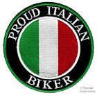 PROUD ITALIAN BIKER embroidered PATCH ITALY EMBLEM FLAG iron-on TOPPA ITALIA