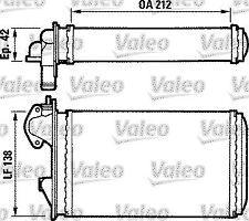 Radiatore Riscaldamento VW POLO t.t dal 81
