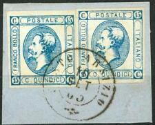ITALIA - Regno - 1863 - Effigie di Vittorio Emanuele II. Litografico I e II tipo