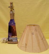 UNIQUE PAPER MACHE LAMP NAUTICAL THEME W/ SHADE