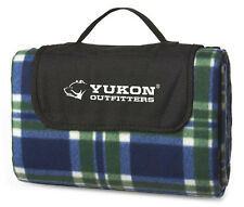 New! Padded Fleece Picnic Blanket *Hiker/Camper* by Yukon Outfitters (Outdoors)