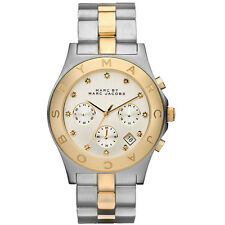 *NEW* MARC BY MARC JACOBS LADIES WATCH MBM3177 - BLADE TWO TONE CHRONOGRAPH