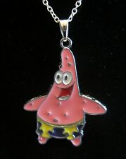 "18""  925 Sterling Silver Chain Patrick Star Pendant Necklace SpongeBob Cartoon"