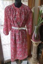 VINTAGE   ~ Shirt Style/Floral  DRESS/BELT * Size 26  *