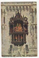 Muenchen Glockenspiel im Rathaus Germany Vintage Postcard 841b