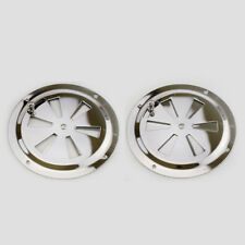 """4PCS Butterfly Vent Cover Stainless Steel 5"""" Flange RV Marine Boat Hardware"""