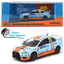 Tarmac Works 1/64 Mitsubishi Lancer Evolution X Rally Finland 2010 GULF HOBBY64