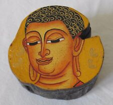 Fair Trade Wooden Hand Painted Buddha Trinket Box Small 8cm (BX1)