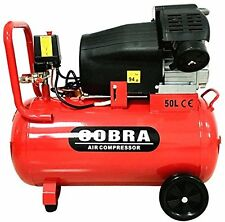 COBRA V TWIN 50L LITER ELETRIC AIR COMPRESSOR 15CFM 3HP 230V 116PSI PORTABLE