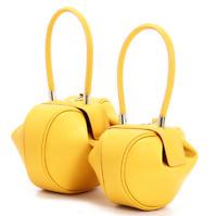 Women Royal Wedding Bag Luxury Demi Wonton Genuine Leather Handbag Tote Purse