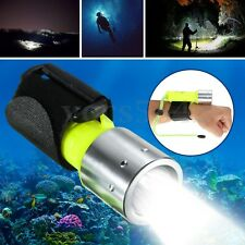 Waterproof Underwater Diving Flashlight T6 LED Torch Lamp w/ Battery Charger 60m