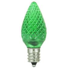 6 Pack Sunlite 80701-SU C7/3LED/0.4W/C/G/6PK LED Candelabra Based C7 Lamp Green