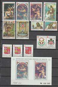 s38462 SMOM 1983 MNH**  Complete year set annata completa 13v + s/s