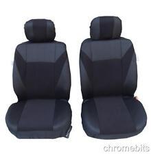 vorne schwarz Stoff Sitzbezüge für Skoda Fabia Octavia MPV Roomster Yeti