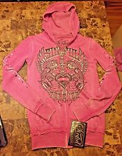 HOT sexy NWT Sinful by Affliction sweat pants and hoodie track set small XS LOOK