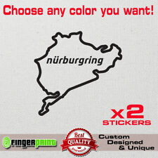 NURBURGRING Cut Out decal sticker Car Motorcycle Race Circuit Bike speed gear gt