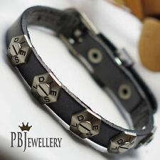 DIESEL Mens Belt Leather Bracelet