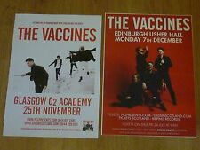 The Vaccines live music memorabilia - Scottish tour concert gig posters x 2