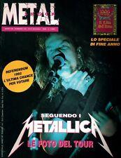 METAL SHOCK N°134/1992 METALLICA CON INSERTO ITALY ROMA MILANO TOUR