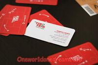 200 Custom Full Color PVC Double Side Print Plastic Business Cards + Free Design
