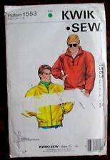 Kwik*Sew sewing Pattern no. 1553 MEN'S WINDCHEATER size S,M,L,XL