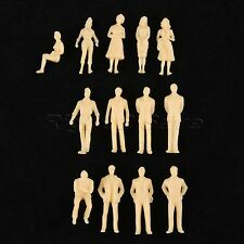 50pcs 1 50 Scale Skin Colour Model People Figures for Building Train Scenery DIY