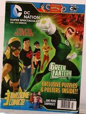 DC NATION Super SPECTACULAR Magazine 3 Awesome COMICS Puzzles & POSTERS