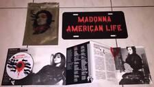 Madonna 2003 American Life Taiwan Silver Bag 2 Track Promo CD + License Plate