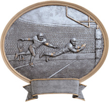 """Resin Football 8"""" Oval Trophy Plaque"""