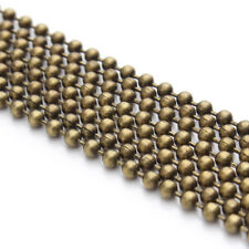 10M/lot 1.2/1.5/2mm Gold Silver Plated Bead Chains For Necklace Jewelry Findings