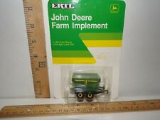ERTL 1986 FARM TOY 1/64 SCALE JOHN DEERE IMPLEMENT ACCESSORY GRAIN HAULER WAGON