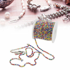 Rhinestone Trim Colorful Glittering 10 Meters for Household DIY Craft Clothes