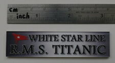 Nameplate R.M.S. Titanic for 1/700 1/350 1/400 model display