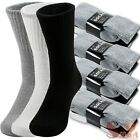 Lot 3-12 Pairs Mens Solid Sports Athletic Work Plain Crew Socks Size 9-11 10-13