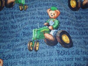 """John Deere Blue Jean Teddy fleece blanket 55 X 60"""""""