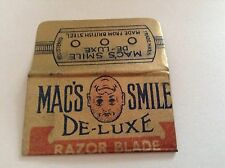 VINTAGE RAZOR BLADE & WRAPPER 'MAC'S SMILE'