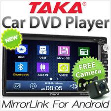 TAKA MirrorLink Car DVD Player Double 2 DIN USB CD MP3 RMVB Head Unit Radio KT