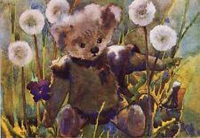 Little Bear and Dandelions Postcard Switzerland Mili Weber