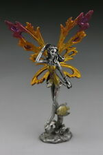 "Fairy Pewter Figurine - Eathelyn 4.5""(H). Fantasy Fairy Garden, Collection, Gift"