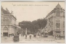 France postcard - Nice - Boulevard des Italiens - P/U 1921