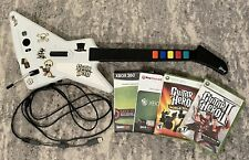 New listing Xbox 360 Guitar Hero Controller with Games