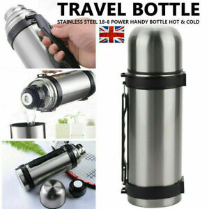 Thermos flask stainless steel unbreakable vacuum handle drinks -1.5 LTR Silver