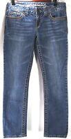Aeropostale Womens Jeans Size 5 6 Blue Denim Medium Wash Skinny Slim Stretch