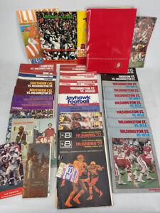 Large lot 1970s WASHINGTON STATE College Football Programs - UCLA Huskers Oregon