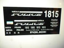 Mesa Arizona Police Patrol SUV Decals  Ghost Version  24 scale