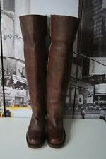 Women's Frye Tall n Sexy Pull On riding Brown Cuff Boots US 6 M   USA    RaRe