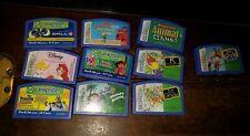 Lot 10 Leapfrog Leapster Cartridges Educational Disney Princess Wall-E Dora