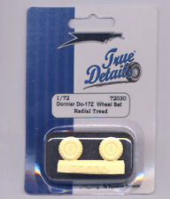 Dornier Do 17 Z Resin Wheels, Radial Tread (1/72 True Details 72030)