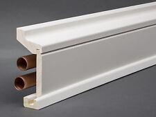 Massivholz/MDF weiß lackiert 115x59 mm profiliert Rohrabdeckleiste