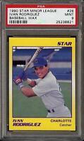 1990 Star Minor League #26 Ivan Rodriguez Baseball Wax CHarlotte Rookie RC PSA 9